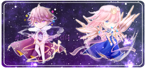 Adoptable Auction #1: Celestial Beings -CLOSED- by skittIess