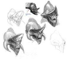 Centaur head sketches 3 by CristianMontesLynch