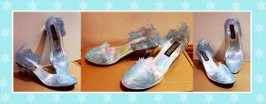 Elsa Inspired Shoes - Commission by Ellwell