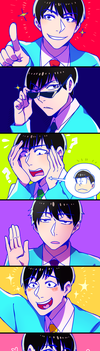 SIX SAME FACES by Cioccolatodorima