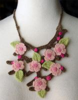 Crochet Cherry Blossoms Sakura by meekssandygirl