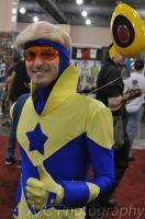 Booster Gold and Skeets by Adamantium84