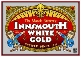 Innsmouth Beer Label coloured by muzski