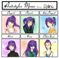 Hairstyles Meme by DragonYoukaiKanaChan