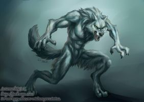 White werewolf by J-C