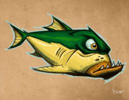 Nasty Fred fish by Hassan-Patterson