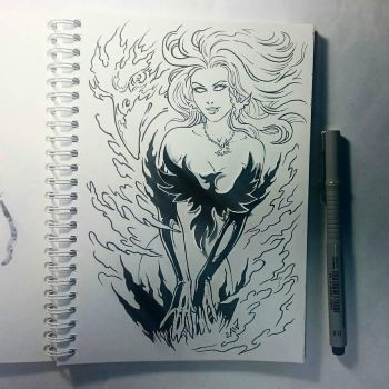 Instaart - Dark Phoenix (NSFW optional) by Candra