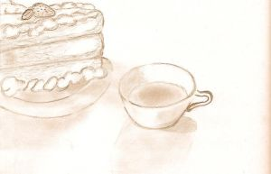 Tea and Cake by Valethia