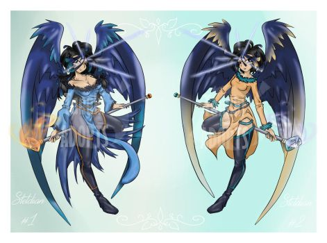 [CLOSED AUCTION] Steldian twins #01 and #02 by Tanuki-Adopts