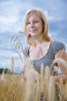 Marie in a Corn Field by ChristophGerlach