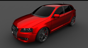 audi a3 front render by spittty