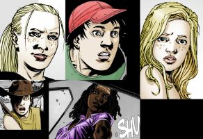 Walking Dead Characters Colored by Rini2012
