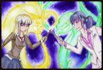 Ariana Rose Potter dueling Melobius by Loomedai