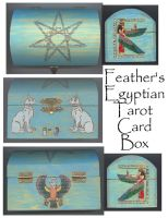 Egyptian Tarot Card Box by Featherthorn