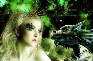 Marie and Dragon Little by annemaria48