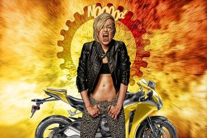 Banshee Biker Babe: HDR Re-Edit by nerdboy69