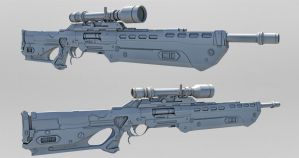 Thornweld Sniper Rifle by Psycho4140