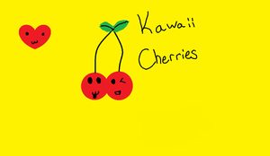 Kawaii Cherries by jumpingnoodles