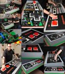 Giant Functional LEGO NES Controller by VonBrunk