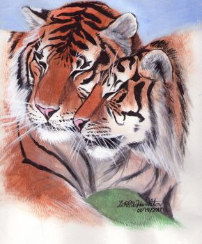 Two Tigers by LRMHamilton