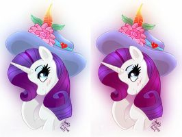 MLP FIM - Rarity's Beautiful Hat by Joakaha