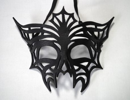 Charlotte leather spider web mask by Shadows-Ink