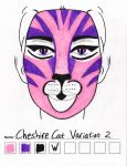 Cheshire Cat Variation 2 makeup sketch by toberkitty