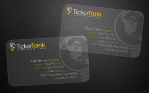 Ticker Tank business cards by Stephen-Coelho