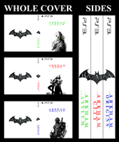 Arkham Trilogy Custom Covers for PS3 by ropa-to