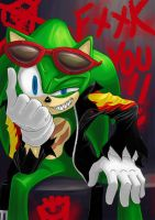 Scourge the Hedgehog by mannaloco