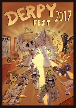 Derpyfest 2017 Poster 2 by CodePepper