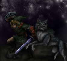 Link, Wolf Link by Rainezi
