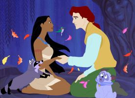 Pocahontas, JR, and GM Willow by ncfwhitetigress