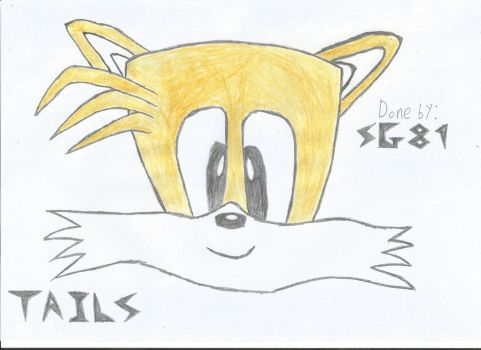 Tails Head Sketch by SafeGaming89