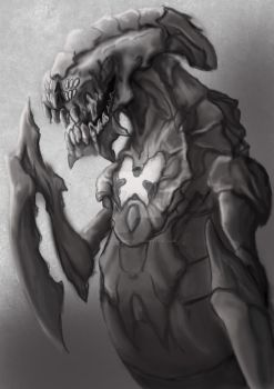 Queen Wurm Greyscale by PanthersGhost
