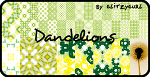 Dandelions Patterns by glitzygurl