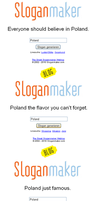 Fun with Sloganmaker: Poland by Melon-Vodka