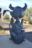 Cheshire Cat Prop Statue  -Back- by kikyo4ever