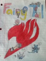 Fairy Tail - A Sign for my Door - Colored by Pikawolf11