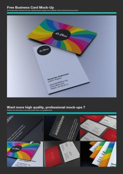 Free Business Card Mock-Up by Alexander760