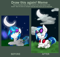 Draw this again: Vinyl Scratch by GummyTheMlpAlligator