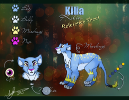 Kilia ref sheet by MorisHizen