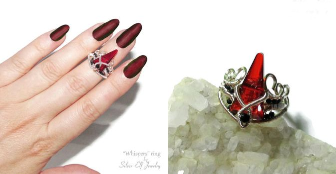 Whispers ring by Lyriel-MoonShadow