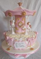Beautiful Carousel Cake by gadgetcakes