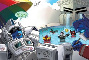TF fanart - Autobots vacation by GoddessMechanic