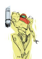 Samus  by MikeOppArt