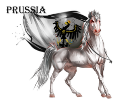 Horse Hetalia:  Prussia by Moon-illusion