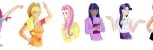 My Little Pony Cast -humanized- by Akissi