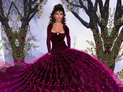 In the Pink Gown by BevAnnieEnchanted