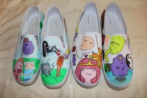 adventure time shoes by nifersaurus